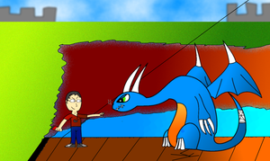 WIFL5: That Belgian Dude vs. Aeon the Dragon by smithandcompanytoons
