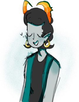 Teal girl(art Trade) by Marcyzz