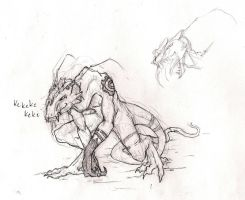 Vrakk - sketchy sketch by dragonlizzard