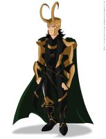 cartoon - loki by pitchblack1994