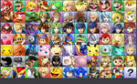 Smash Bros. for 3DS with 76 Characters (by series) by MachRiderZ
