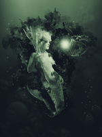 Mermaid and the Angler by Maniakuk