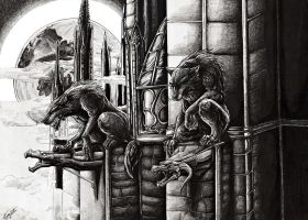 Werewolves at the Cathedral by Nazgul-w