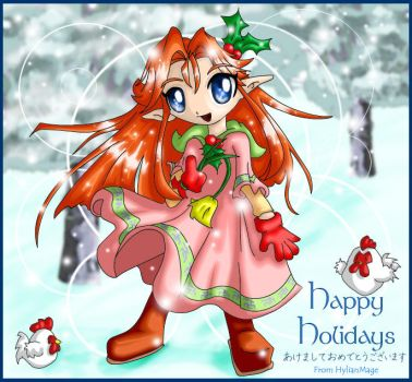 Flower for the Holidays by hylianmage