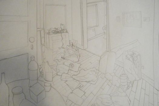 my messy apartment by colourexhaust