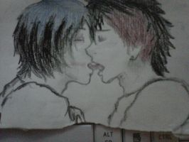 Frerard-Sketch-Frenchie Kisses by GHOULISHGLOW