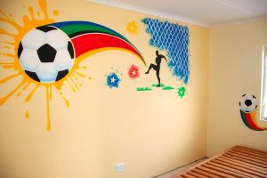 Boy's Room Mural -South Africa by Kyouko-Takara