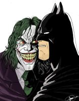 The Batman and the Joker by OmaruIndustries