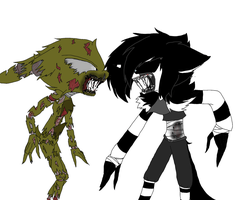 Springtrap vs Laughing Jack by Minka-kitty-Cat