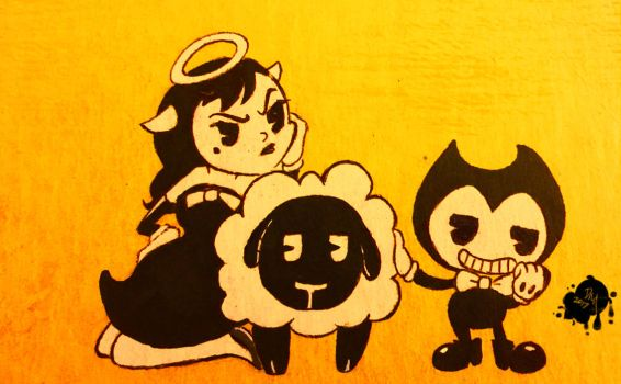 Bendy and Alice Angel In: Count Your Sheep by MaeDBee