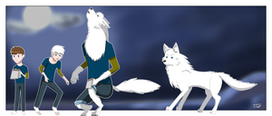 Human to wolf by JackFrostOverland