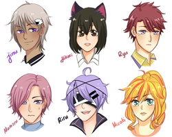 Link Me Your OCs ( Headshots ) - Part 1 by Hourglass34