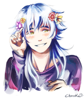 Aoba with flowers by ChussKa
