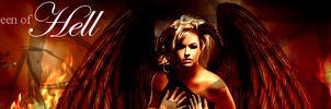 Queen of Hell Signature Banner by RoseSwan