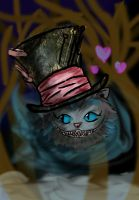cheshire cat loves the hat by Jadethefirefox