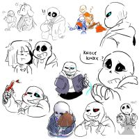 sans everywhere by Dinzeeyz