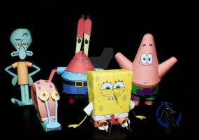 SpongeBob Squarepants Papercraft by henrydig