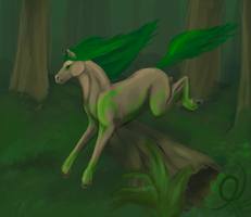 Through the forest by Inghelene