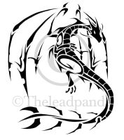 Tribal dragon - Tattoo design by Leadpanda