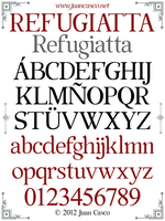 Refugiattta Font Design by DarkoJuan