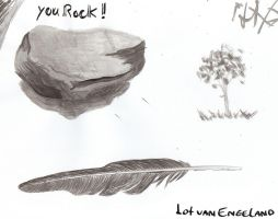 rock, paper, feather XD by shy-fox