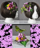 Butterfly lovers hair comb by Lexandrian