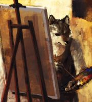 Painter wolf by racoonwolf