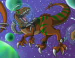 Raptors in SPACE by Pure-Ruby-Dragon