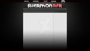 ShermonAFK Youtube layout by Runningboxdesign