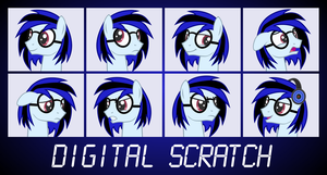 OC Faces - Digital Scratch by outlaw4rc