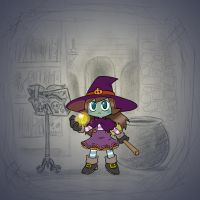 Angela's Magic Lesson - Angie the Witch by Mr-DNA