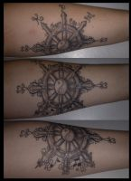 Three Panel Tattoo: Finished by Paranormallity
