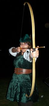 Robina Hood with Bow by elventreedweller1989
