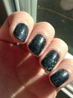 First Fall Manicure: night sky by wittlecabbage