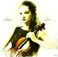 Painting Hilary Hahn 2 by kawl4sure