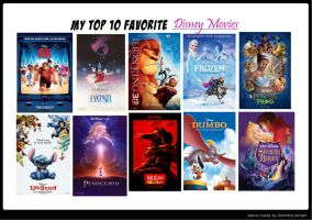 My Top 10 Favorite Disney Movies by SunlightRyu