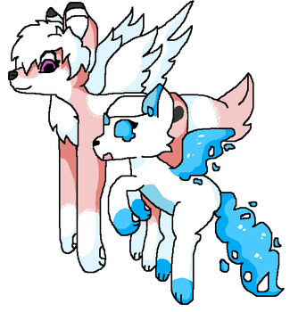 Collab: Holly and Cloudtail by Saretha
