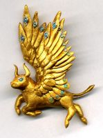 Golden Bull magnet by chaoka