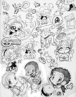 Big Page o Doodles by runeechan