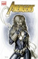 Black Widow Avengers 7 Sketch Cover by RichardCox