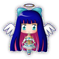 Chibi Stocking Angel Blink by izka197
