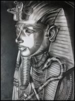 Pharaoh Tutankhamun by Skaughtt
