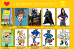JayZeeTee's Top 10 Characters That Deserve Better by JayZeeTee16