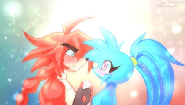 Spaicy and Rex by LoulouVZ