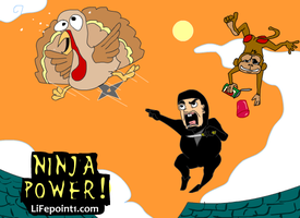 Ninja vs. Turkey by lifepoint1