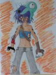 Cyborg Noodle by butters-margarine