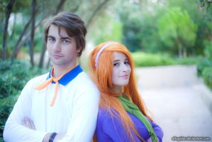 Fred and Daphne cosplay from scooby doo by altugisler