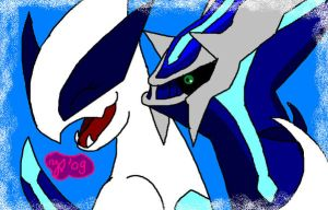 Dialga and Lugia by Joana-the-Raichu