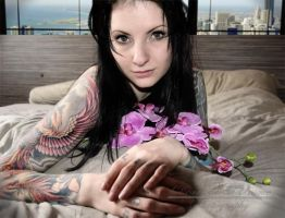 Tattoed Beauty by Dejavue-Pictures