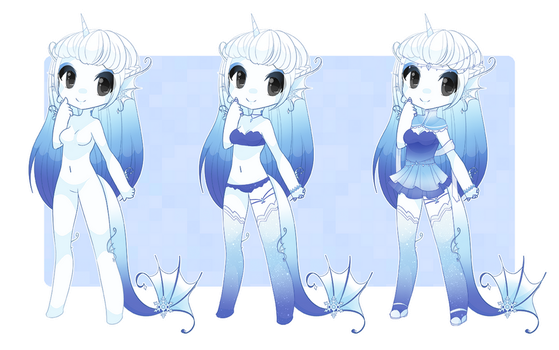 Glaceon inspired Dexette by kawaii-antagonist